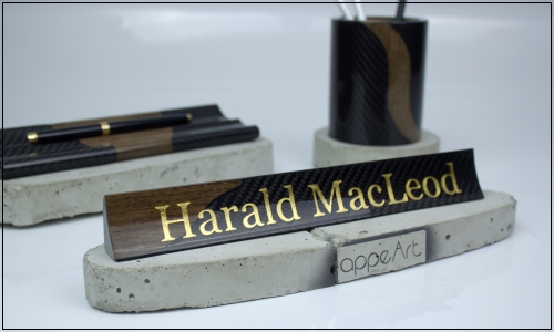 Desk Name Plate Textimage 500x300
